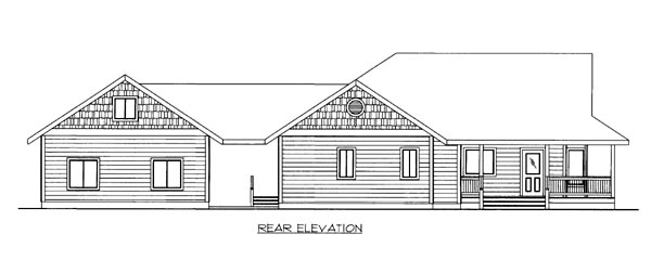 House Plan 86549 Rear Elevation