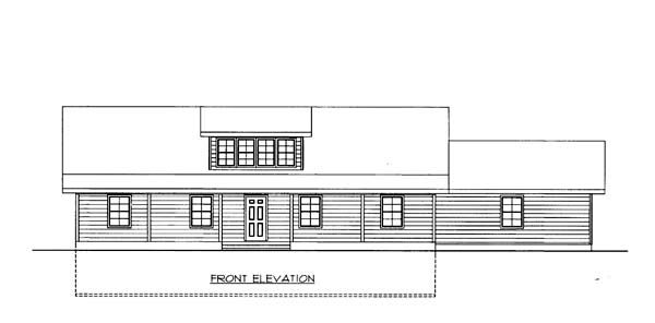 House Plan 86561 with 2 Beds, 2 Baths, 3 Car Garage Elevation