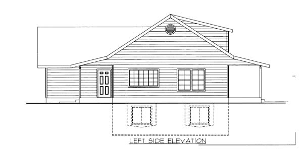 House Plan 86561 with 2 Beds, 2 Baths, 3 Car Garage Picture 1
