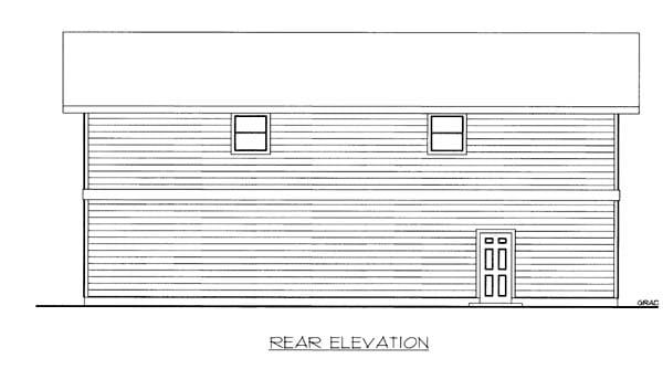 Garage Plan 86563 Rear Elevation