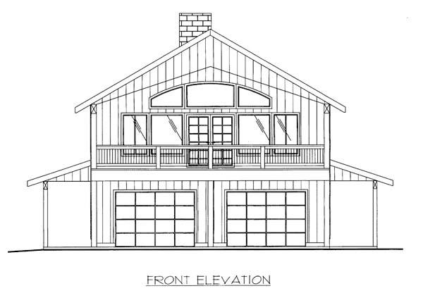 House Plan 86564 Elevation