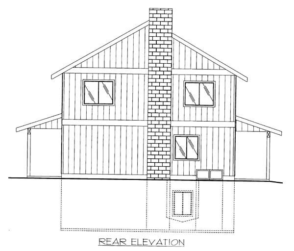 House Plan 86564 Rear Elevation