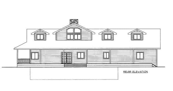 House Plan 86570 Rear Elevation