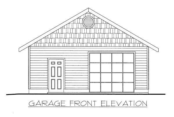1 Car Garage Plan 86582 Elevation