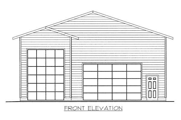 Garage Plan 86584 Elevation