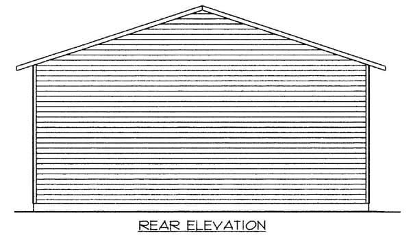 Garage Plan 86584 Rear Elevation