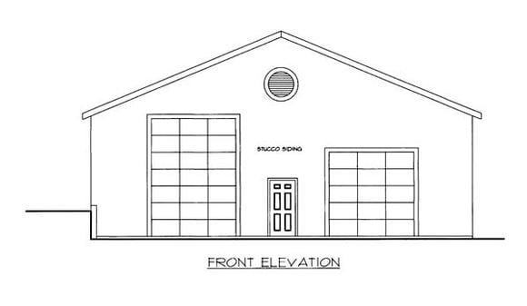 4 Car Garage Plan 86590 Elevation