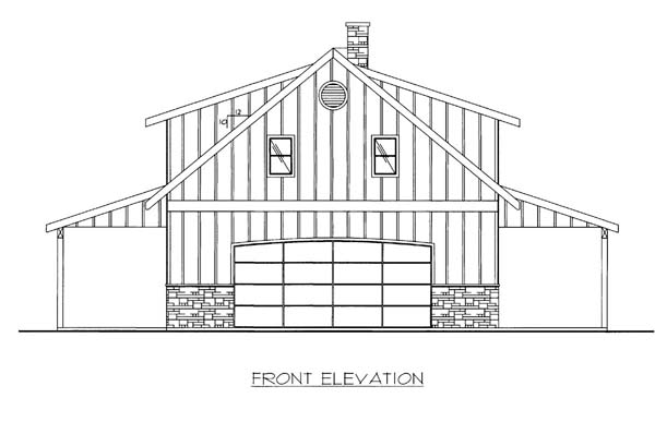 Garage Plan 86591 Elevation