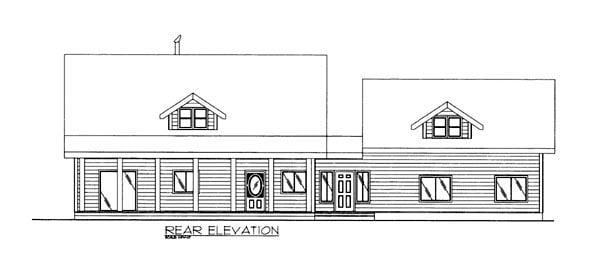 House Plan 86604 Rear Elevation