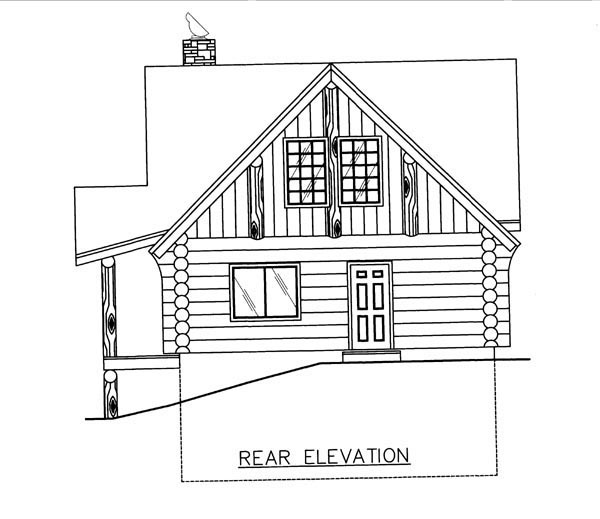 Log House Plan 86608 Rear Elevation