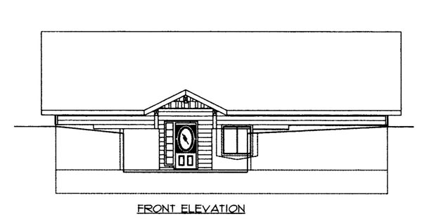 House Plan 86626 Elevation