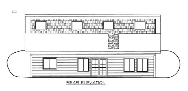 House Plan 86626 Rear Elevation