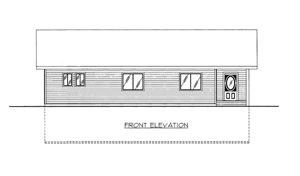 House Plan 86664 Elevation