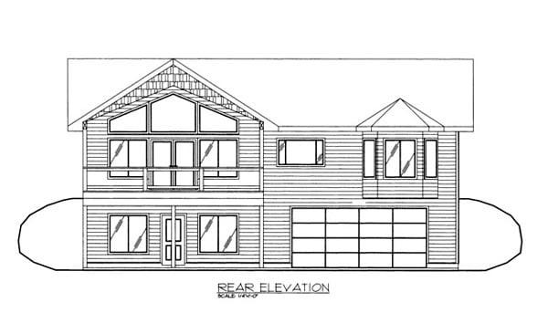 House Plan 86664 Rear Elevation