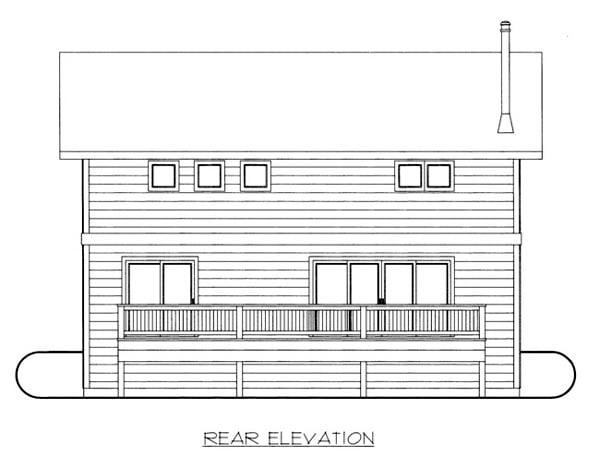House Plan 86665 Rear Elevation