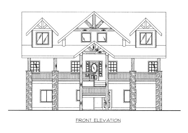 House Plan 86689 Elevation