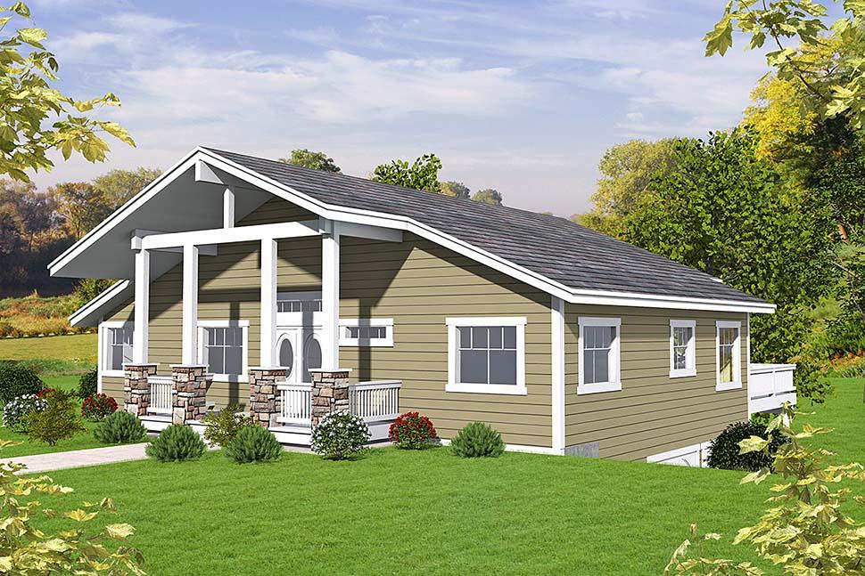 House Plan 86696 Elevation