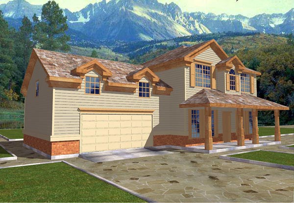 Traditional House Plan 86721 with 3 Beds, 3 Baths, 2 Car Garage Elevation