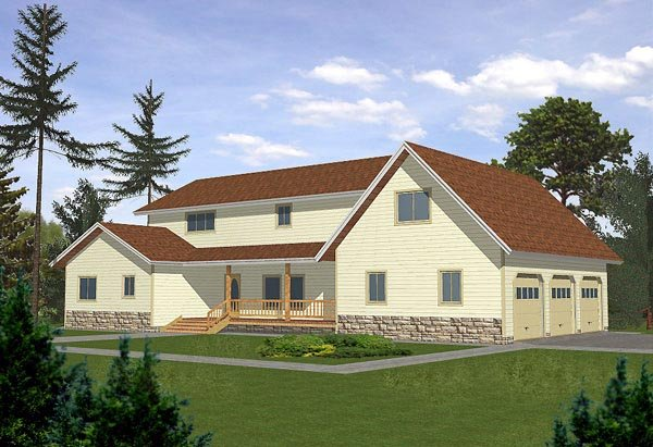 Traditional House Plan 86748 Elevation