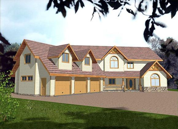Country House Plan 86754 with 4 Beds, 4 Baths, 3 Car Garage Elevation