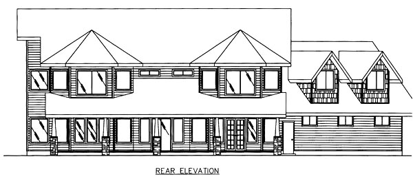 Country House Plan 86754 Rear Elevation