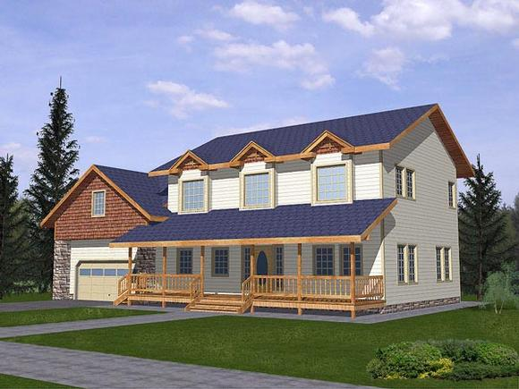 Country House Plan 86766 with 4 Beds, 3 Baths, 2 Car Garage Elevation