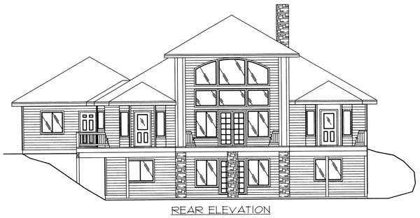 Traditional House Plan 86795 Rear Elevation
