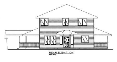 Traditional House Plan 86818 Rear Elevation