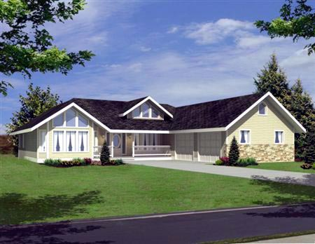 Traditional House Plan 86829 with 3 Beds, 3 Baths, 2 Car Garage Elevation