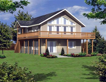 Contemporary House Plan 86834 Elevation