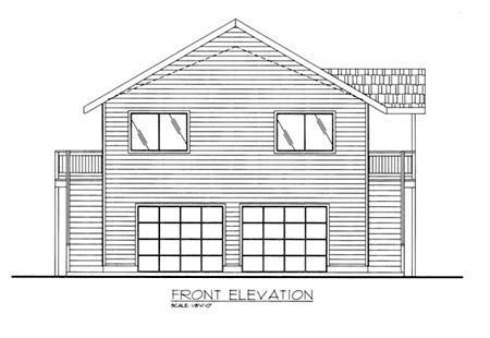 Contemporary House Plan 86834 Rear Elevation