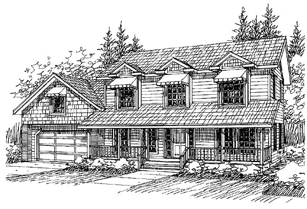 Country House Plan 86835 Elevation