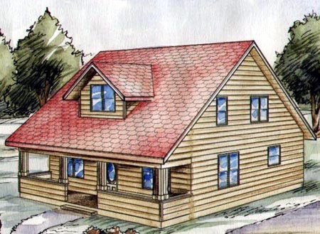 Traditional House Plan 86837 with 3 Beds, 3 Baths Elevation