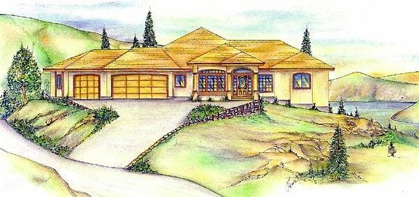 Southwest House Plan 86844 Elevation