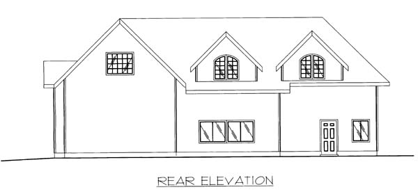 Garage Plan 86869 Rear Elevation