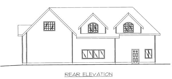 3 Car Garage Plan 86869, RV Storage Rear Elevation