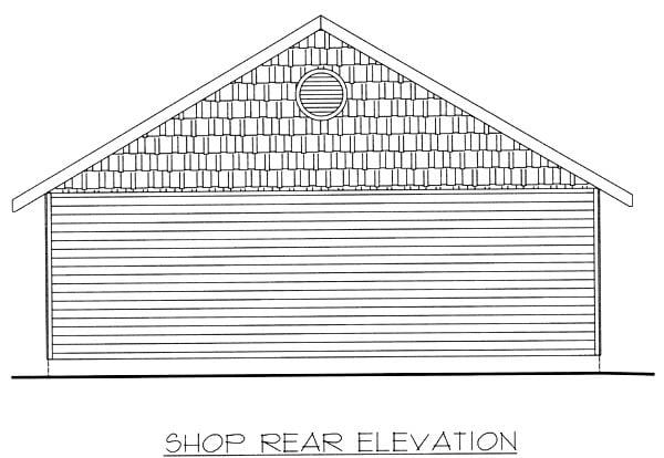 6 Car Garage Plan 86871 Rear Elevation
