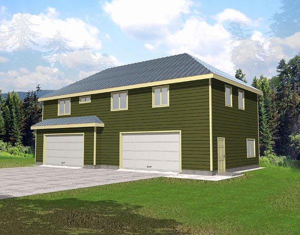 Garage plan 86883 at for Above all house plans