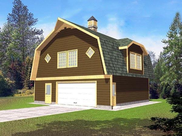 2 Car Garage Plan 86887 Elevation