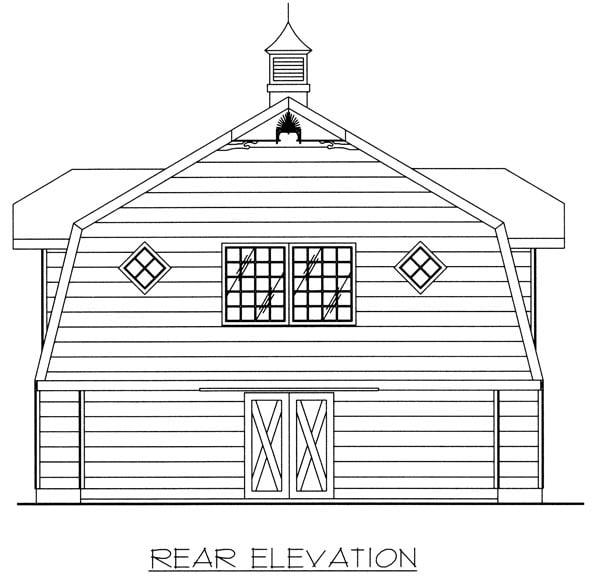 2 Car Garage Plan 86887 Rear Elevation