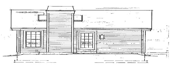 Country House Plan 86901 Rear Elevation