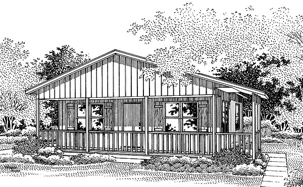 Country House Plan 86902 Elevation