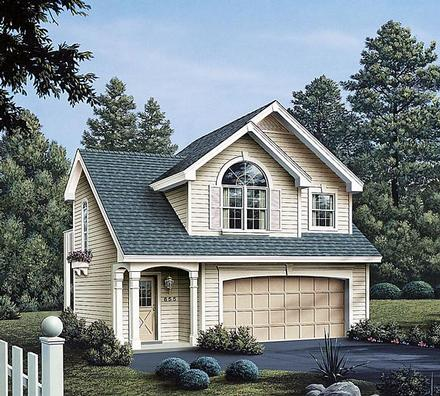 Country European Traditional Elevation of Plan 86903