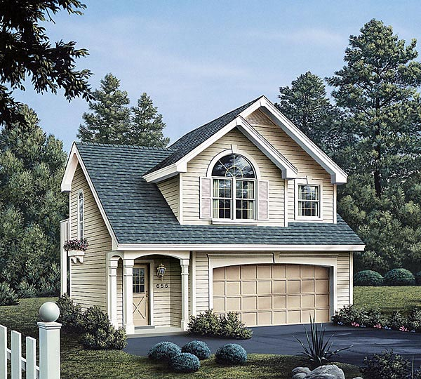 Cottage Ranch Traditional Garage Plan 86903 Elevation