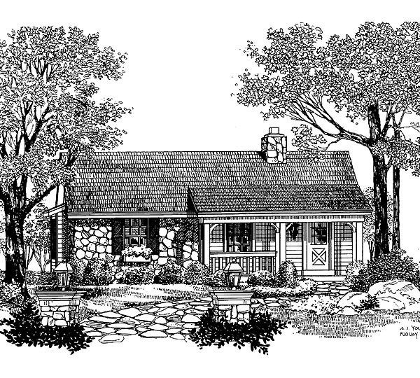 Country House Plan 86904 Elevation