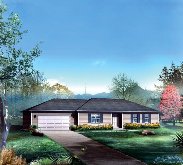 Ranch House Plan 86907 Elevation