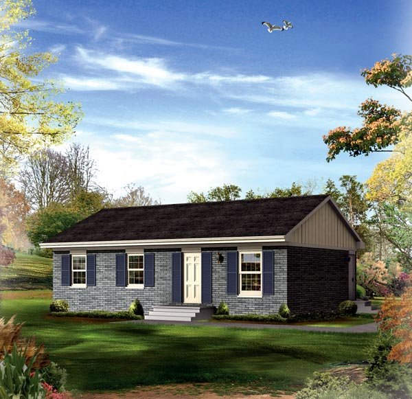 Ranch House Plan 86909 Elevation
