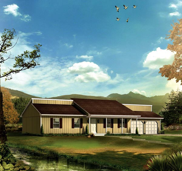 House Plan 86913 Elevation
