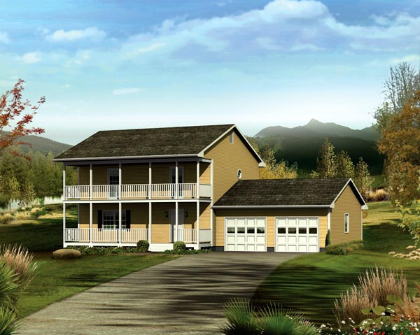 House Plan 86920 Elevation