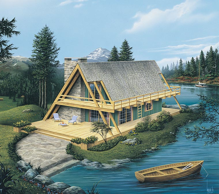 A-Frame House Plan 86952 Elevation